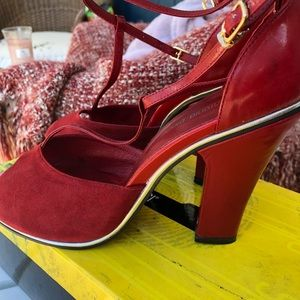 81a2b92ace911 antonio biaggi Shoes - Red heels 60 s style Mary Jane style heels